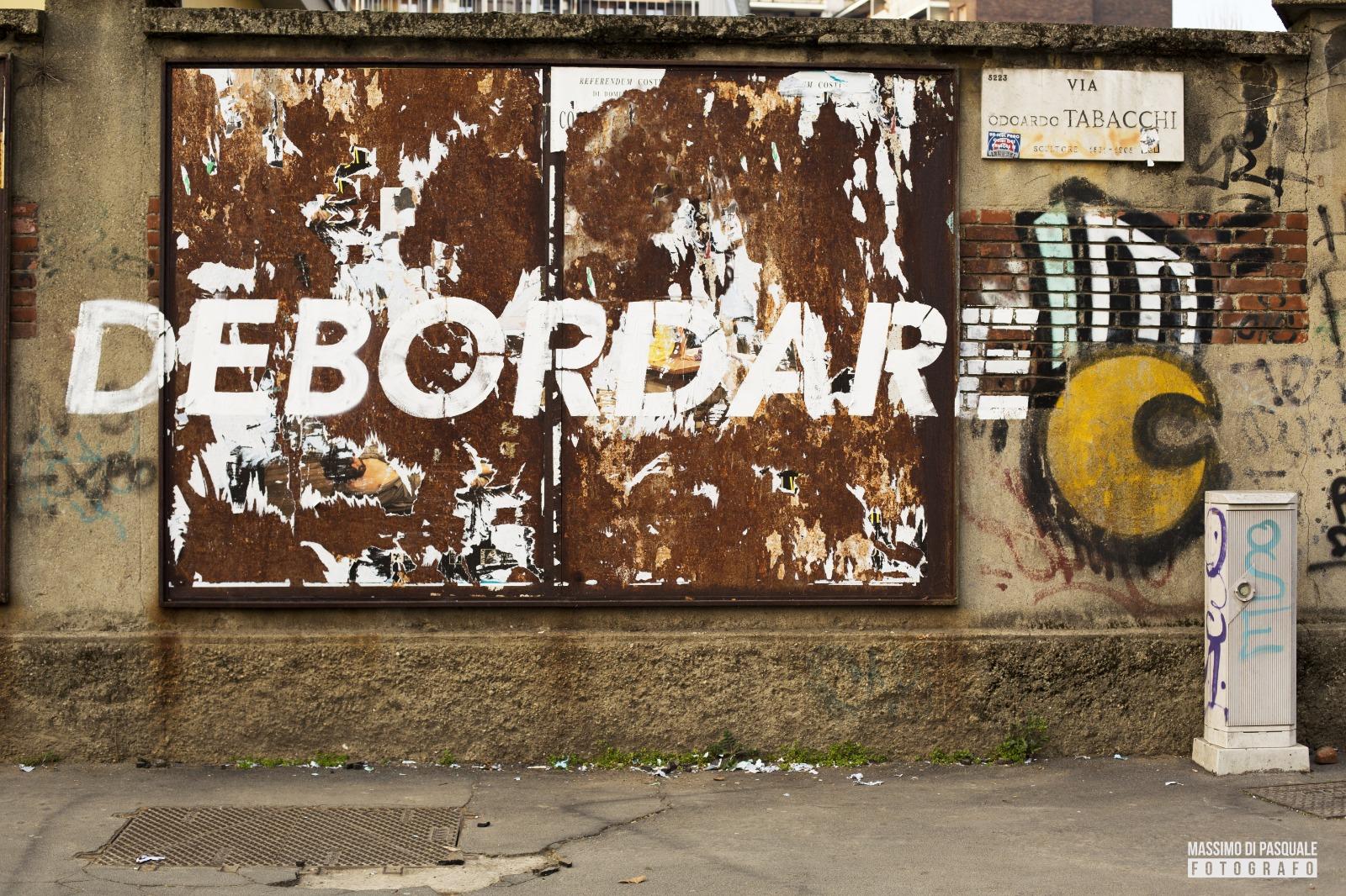 MisterCaos:poesia di strada:Debordare