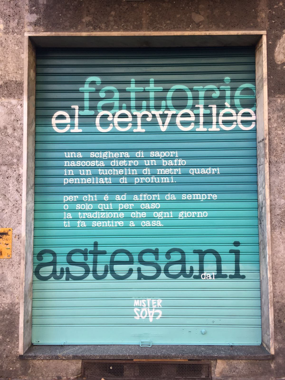 MisterCaos:poesia di strada:Milano Affori