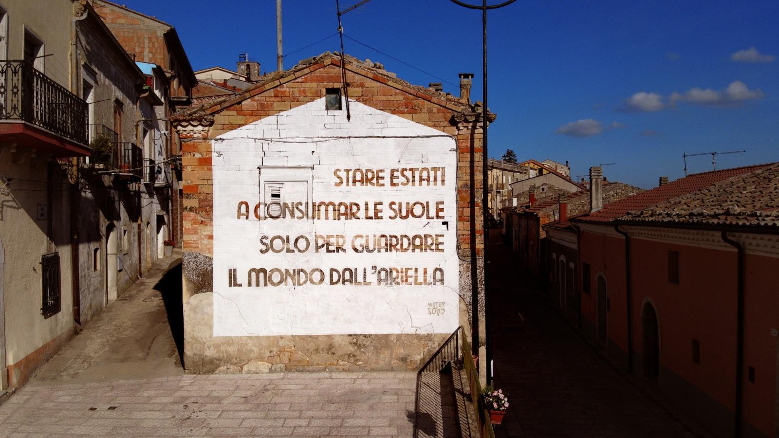 MisterCaos:poesia di strada:Montaguto