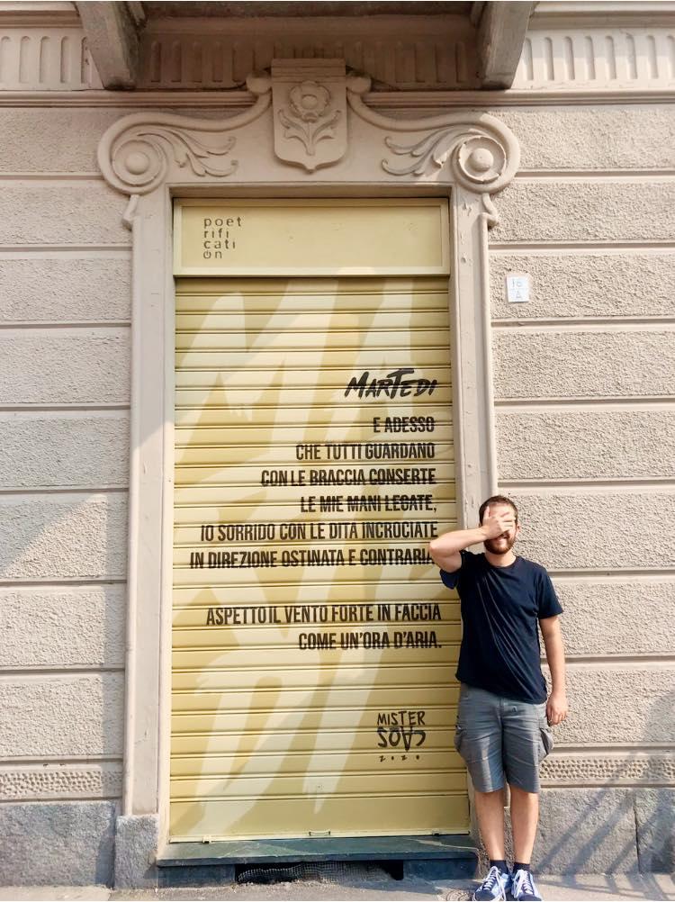 MisterCaos:poesia di strada:Torino